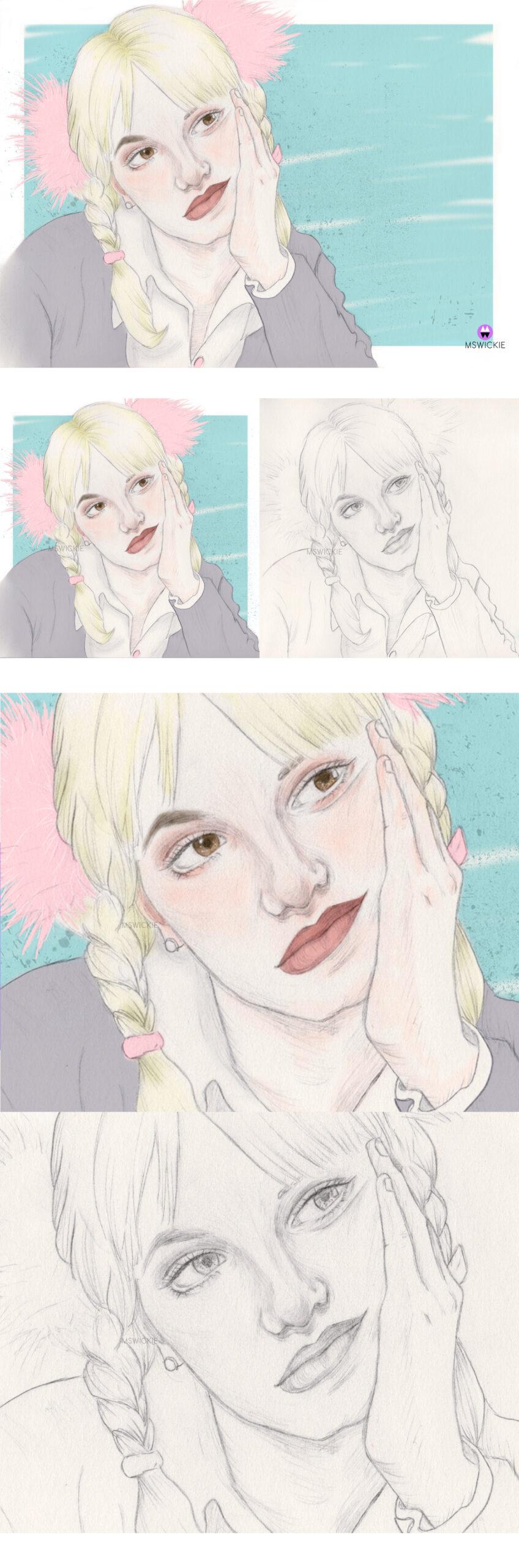 ilustración Britney Spears wip