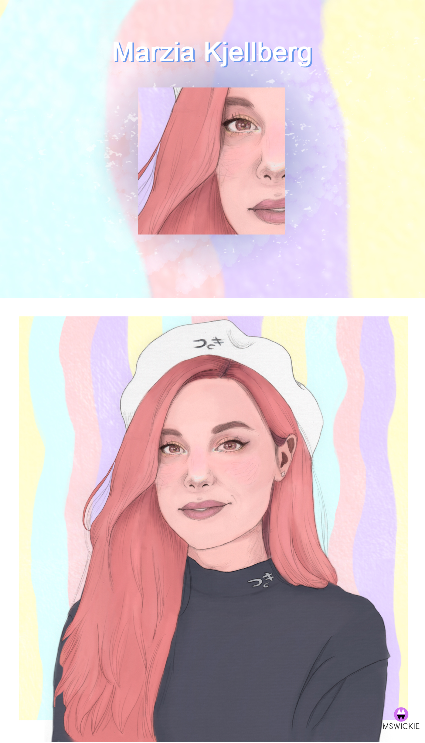 Marzia Kjellberg Portrait Process